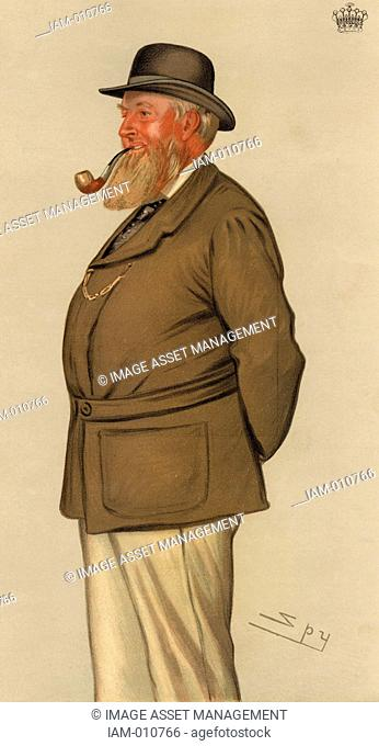 Thomas William Coke, 2nd Earl of Leicester (1822-1909) English landowner, agriculturist and countryman. Inherited Holkham Hall, Norfolk, England
