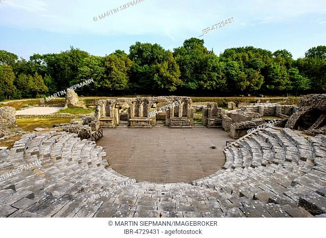 Roman theater, ancient city Butrint, Butrint National Park, near Saranda, Qark Vlora, Albania
