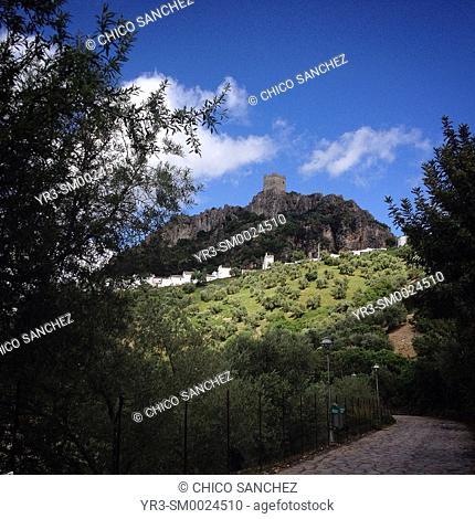 The castle of Zahara de la Sierra in Andalusia, Spain