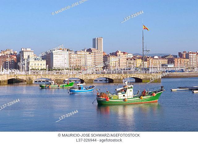 Marina. Gijón. Asturias, Spain