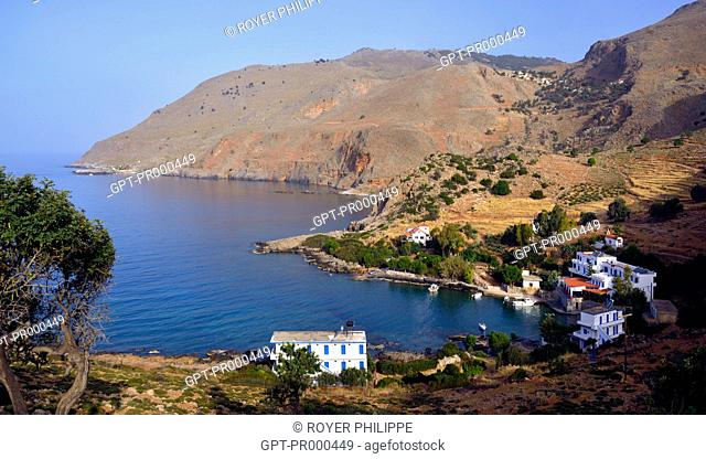 VILLAGE OF LOUTRO NEXT TO CHORA SFAKION IN THE SOUTHWEST OF CRETE, GREECE