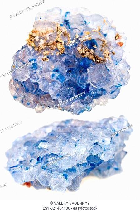 set of crystals of rock salt
