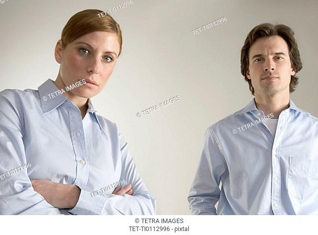 Serious business couple