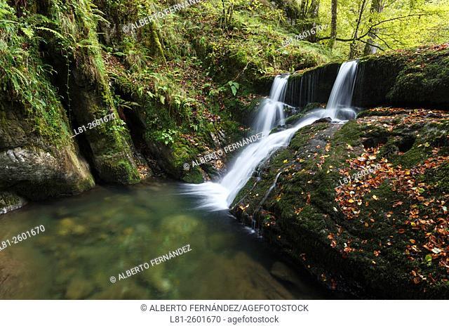Cascada en el río Infierno. Piloña. Asturias. España