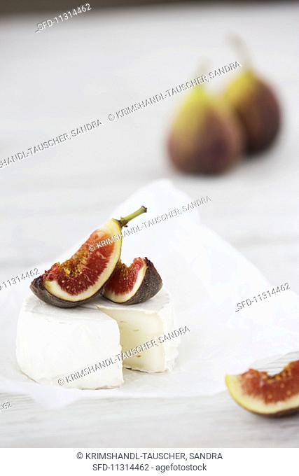 Camembert and fresh figs