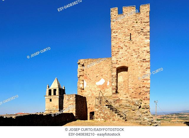 Tower and the Misericordia church, Mogadouro, Tras os Montes, Portugal