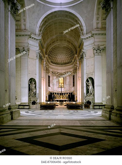 Interior of Santa Maria Church, Carignano, Genoa, by architect Galeazzo Alessi (1512-1572). Italy, 16th century