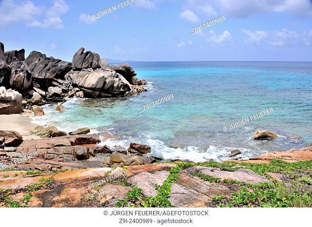 Anse Songe on Island La Digue, Seychelles