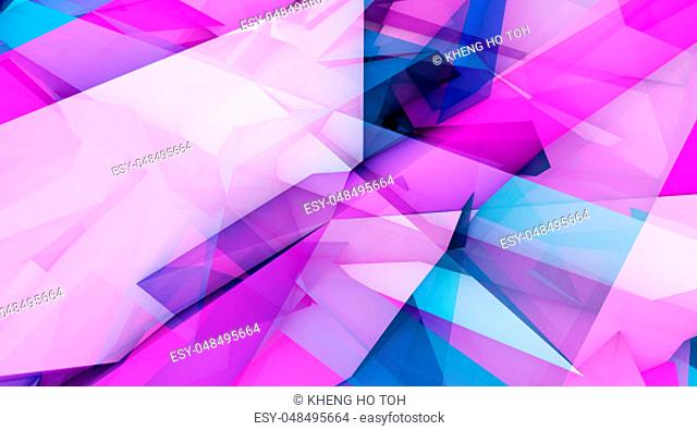 Fashion Geometric Background with Overlapping Shapes Abstract