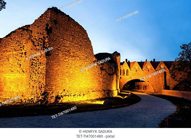 Ruins of the Teutonic Knights castle in Torun Torun, Kuyavian-Pomeranian, Poland