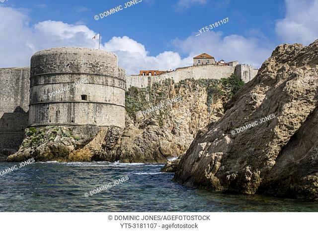 Bokar Fortress, part of the Old Town's sea wall fortifications, Dubrovnik, Croatia, Europe