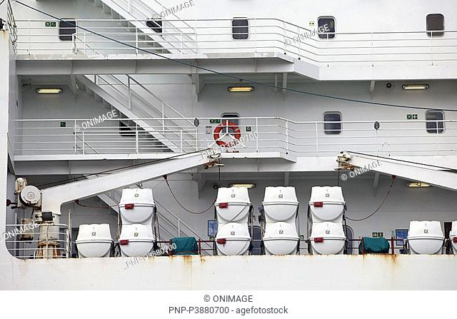 lifeboats on deck