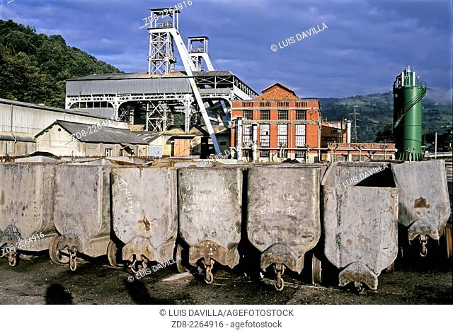 Coal mine head wheel. asturias