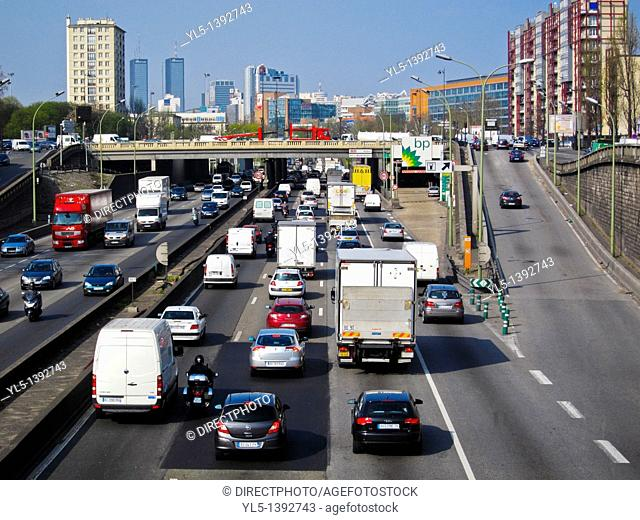 Paris, France, Traffic on Peripherique Highway, East