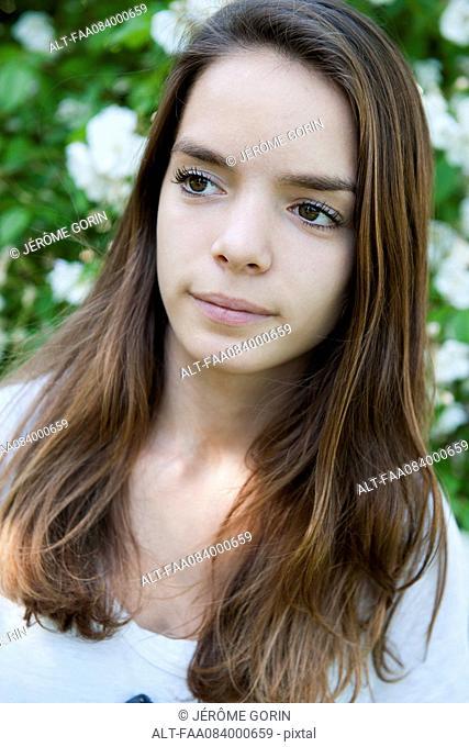 Teenage girl outdoors, portrait