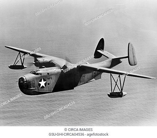 U.S. Navy PBM-3 Mariner Patrol Bomber, Office of War Information, 1940's