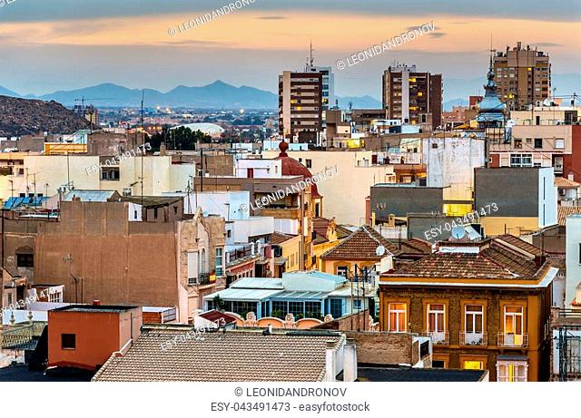 View over the city of Cartagena - Spain