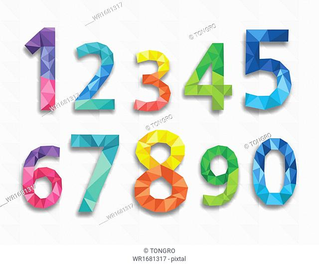 colorful abstract numbers
