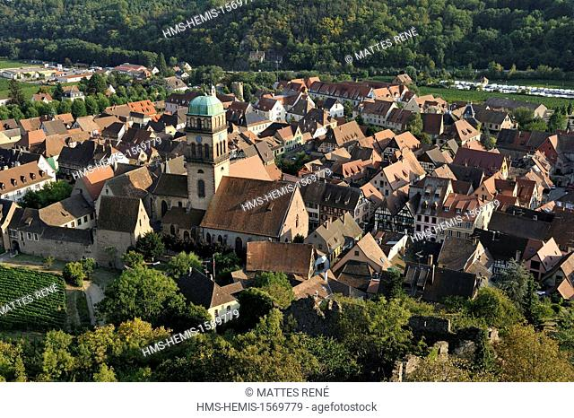 France, Haut Rhin, Alsace Wine Route, Kaysersberg, Sainte Croix church