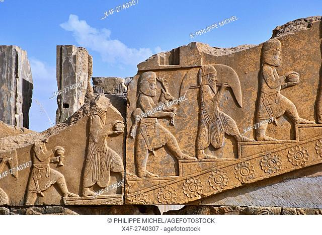Iran, Fars Province, Persepolis, World Heritage of the UNESCO, Darius 1st palace