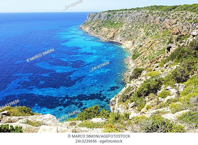 Pilar de sa Mola, Formentera, Balearic Islands, Spain