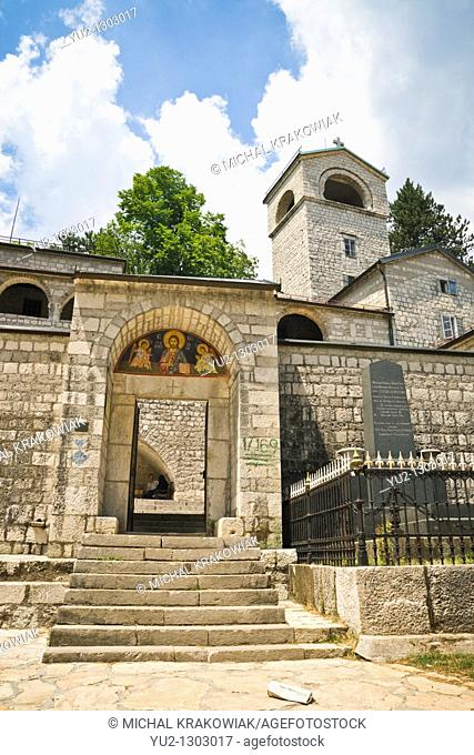 Entrance to Cetinje Monastery in Cetinje, Montenegro