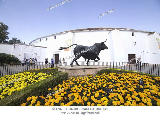 Bullring in Ronda, Andalusia, Spain. Real Maestranza