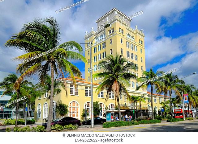 The Beautiful Old City Hall Miami Beach Florida FL Art Deco Ocean Drive South Beach