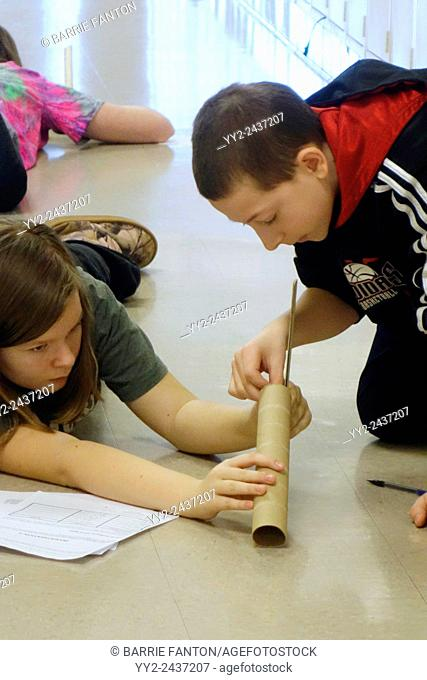 Marble Roll Science Experiment, Wellsville, New York, United States