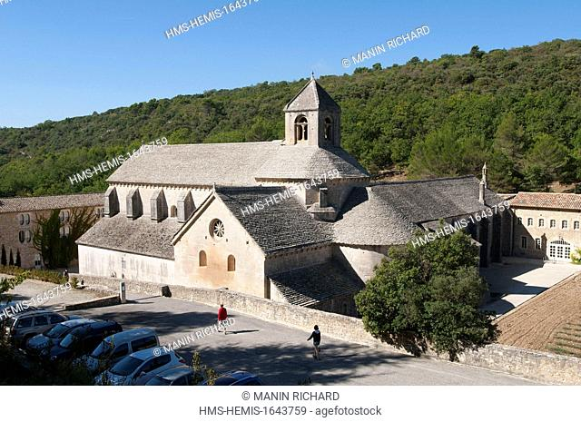 France, Vaucluse, Luberon, Gordes, Notre Dame de Senanque Cistercian Abbey dated 12th century