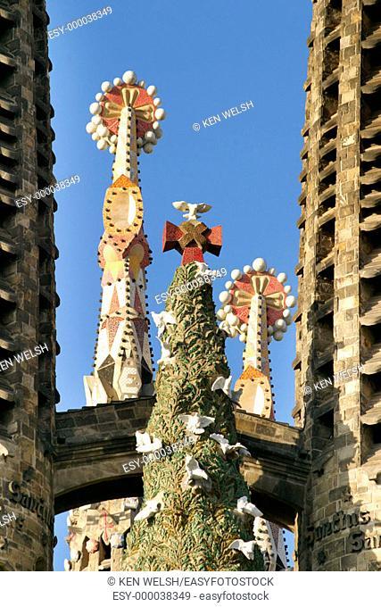 Spires. La Sagrada Familia. Barcelona. Catalonia. Spain
