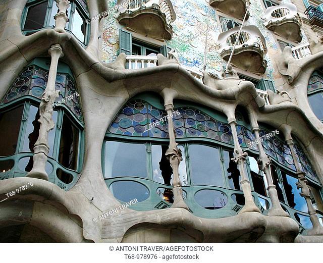 Casa Batllo by Gaudi, Barcelona. Catalonia, Spain