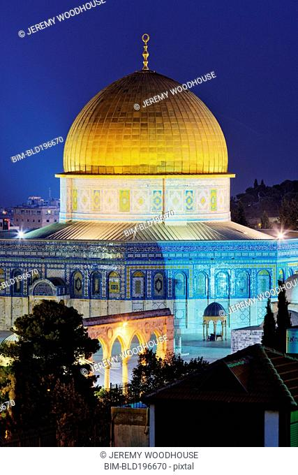 Glowing dome of Dome of the Rock