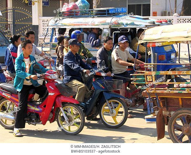 traffic, Laos, Vientiane
