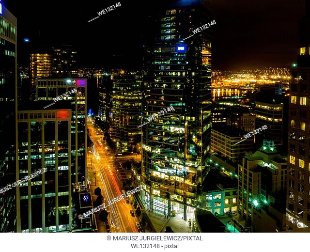 Burrard Street is a major thoroughfare in Vancouver, British Columbia, Canada. It is the central street of Downtown Vancouver and the Financial District