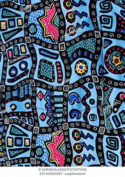 Hawaiian batik fabric background