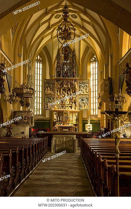 Interiors of St Vincent church, Heiligenblut, Carinthia, Austria