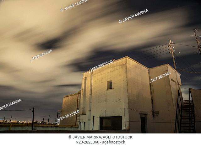 Clouds moved at dusk, Valencia. Spain