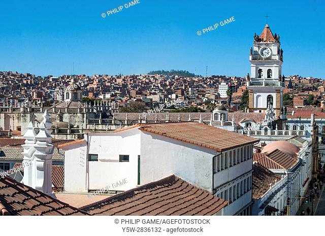 Rooftops of Sucre, Bolivia, from the belltower of the Templo Nuestra Senora de la Merced