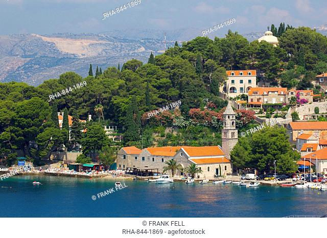 View of Old Town, Cavtat, Dubrovnik Riviera, Dalmatian Coast, Dalmatia, Croatia, Europe