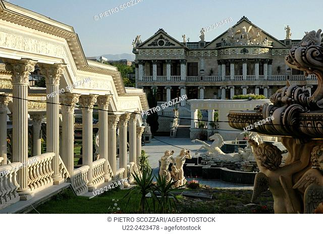 Yerevan, Armenia: the cheesy villa of a local rich man who made a replica of a kind-of ancient Roman palace