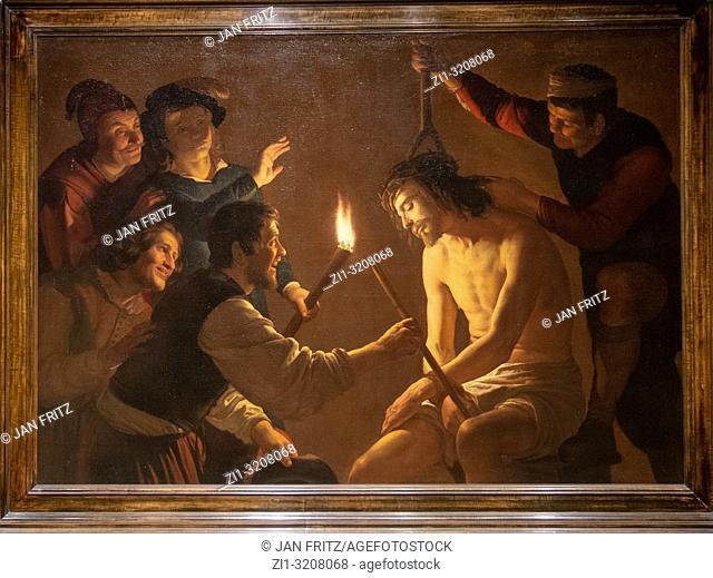 The mocking of Christ from Gerard van Honthorst