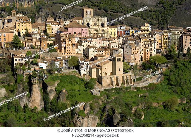 Cuenca, Cathedral, Jucar river gorge, UNESCO World Heritage Site. Castilla-La Mancha. Spain