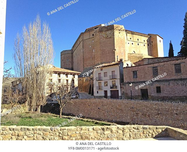 Mora de Rubielos Teruel Muslim Castle in Aragon Spain