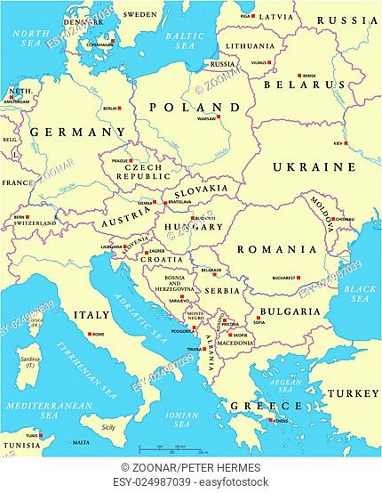 Hungary World Map Stock Photos And Images Age Fotostock