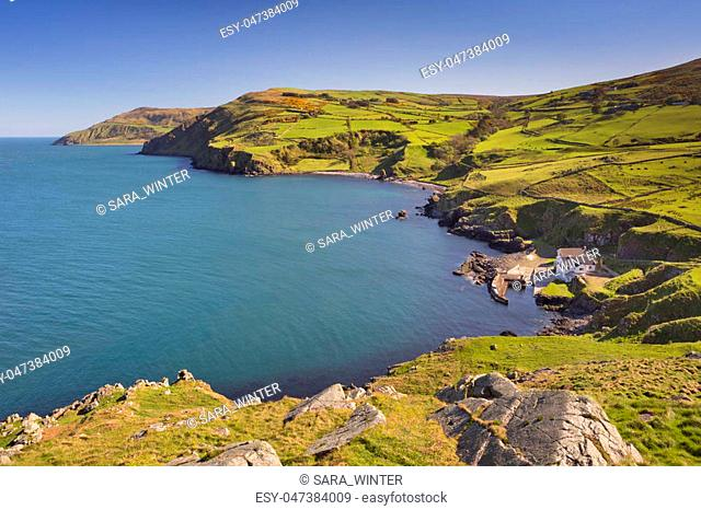 View from Torr Head on the Causeway Coast of Northern Ireland on a sunny day
