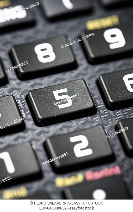 Close-up of buttons a scientific calculator