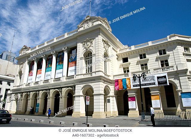 Santiago de Chile city. The Municipal Theatre of Santiago (1857)