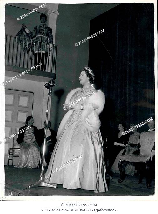 Dec. 12, 1954 - Queen Mother Attends New Theatre At R.A.D.A.; Queen Elizabeth the Queen Mother opened the new Vanbrugh Theatre