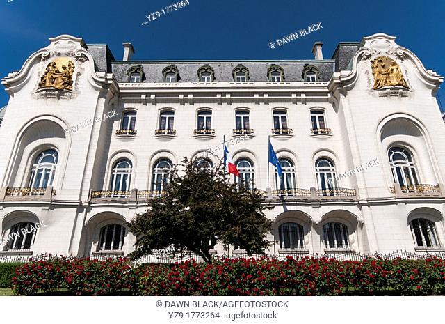 Art Nouveau French Embassy, Technikerstrasse, Vienna, Austria